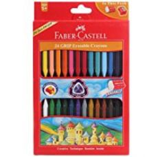 Faber Castell Grip Erasable Crayons 24 Pcs. (Pack of 2 sets) for Rs. 145
