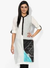 Buy W Off White Printed Kurta for Rs. 780