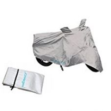Autofurnish Universal Motorcycle Cover with Mirror Pockets (Silver) for Rs. 275