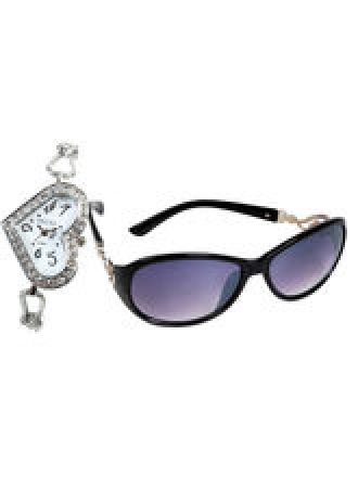 Flat 67% off on Combo - Ladies Watch and Sunglass
