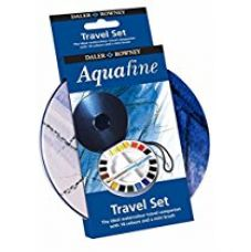 Daler-Rowney AOG Aquafine Watercolour 18 Halfpan Travel Tin Set (1 watercolor brush and 2 mixing cups included) for Rs. 1,588