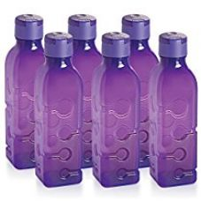 Buy Cello Tango Polypropylene Bottle Set, 1 Litre, Set of 6, Purple from Amazon