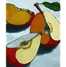Buy TiedRibbons® Sliced Apples canvas Print Unframed (18 inch x 22 inch,Yellow) from Amazon