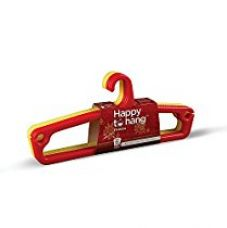 Buy Happy To Hang Ethnica Polypropylene Hanger (Yellow and Red), Pack of 6 from Amazon