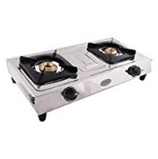 Prestige Star Stainless Steel 2 Burner Gas Stove, Metallic Silver for Rs. 1,819