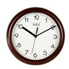 Safal Wooden Wall Clock (23cm x 23cm, Brown) for Rs. 795