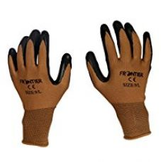 TheCoolio Frontier (Midas Safety) Brown Shell with Black Crinkle Finish Latex Coating Gloves (Large Size) for Rs. 249