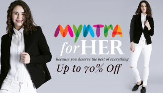 Myntra for her - Upto 70% Off