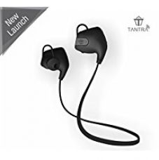 Tantra Zing Bluetooth 4.1 Wireless Headset with Noise and Echo Cancellation, Scratch Resistant Finish, Sweat Proof, Voice Command, Hi-Fi Stereo Sound For Apple iPhone, iPad, iPod, iWatch, Samsung, all Android and Blackberry Phones etc for Rs. 1,999