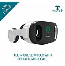 """Buy Tantra 3D All in One VR Engage Dico Headset + Speaker + Mic + Adjustable Focal Distance, Compatible with IOS & Android (3.5"""" – 6.0"""" cellphones) from Amazon"""