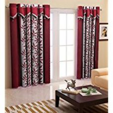 Buy Home Candy Eyelet Polyester 2 Piece Door Curtain Set - 84