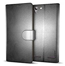 Buy MTT® Premium Leather Flip Wallet Case with Card Slot for Lenovo Vibe K5 / Lenovo Vibe K5 Plus (Black) from Amazon