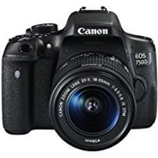 Buy Canon EOS 750D 24.2MP Digital SLR Camera (Black) + 18-55 IS STM Lens + 8GB Memory Card + Carry Bag from Amazon