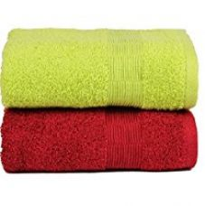 Buy Casa Basics Quick Dry 450 GSM Set Of 2 GYM Towels 50 X 90 cm- Green & Red… from Amazon