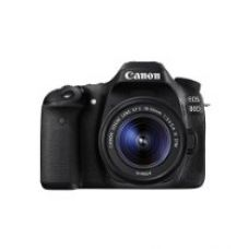 Canon EOS 80D 24.2MP Digital SLR Camera (Black) + EF-S 18-55mm STM Lens Kit + Memory card for Rs. 73,332