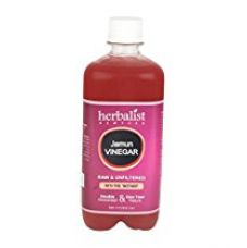Herbalist's Raw Jamun Cider Vinegar, Unprocessed and Unrefined with Mother Vinegar, 500ml for Rs. 565