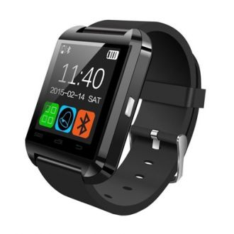 Bingo U8 Bluetooth Black Rubber Smart Watch for Rs. 499