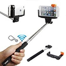 DMG Stretchable Self Portrait Monopod Selfie Stick With Built-In Bluetooth Remote Clicker And Easy Adjustable Holder for Rs. 329