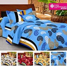Casa Basic 144 Thread Count Double Bedsheet With 2 Pillow Cover-Blue for Rs. 499