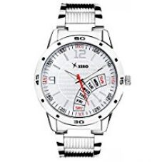 Buy Xeno ZDRE0009 Silver Metal Chain Analog Silver White Dial Men's Watch from Amazon
