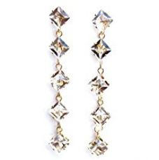Buy Sansar India Crystals Drop Earrings for Girls and Women… from Amazon