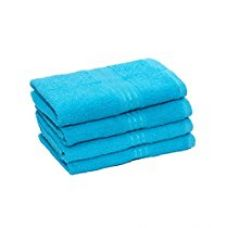 Homestrap Classic Hand Towel Set -Turquoise Blue - Pack Of 4 for Rs. 329