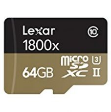 Lexar Pro microSDXC 64GB 1800 5A992 RDR RB IN for Rs. 12,999