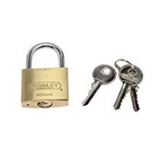 Buy Stanley Solid Brass Standard Shackle Padlock - 40mm from Amazon