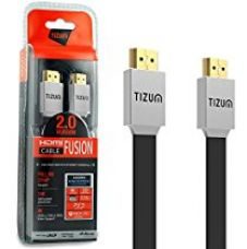 """Buy Tizum 3 Mtr High Speed HDMI Cable """"Fusion""""- HDMI 2.0 -Gold Plated-High Speed Data 18Gbps, 3D, 4K, HD 2160p (10 Ft) from Amazon"""