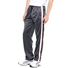 American Crew Men's Trackpant Grey With White Stripes & Two Red Piping - L (AL058-L) for Rs. 499