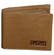 Buy Le Craf Aaron Brown Leather Men's Wallet from Amazon