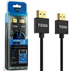 """Buy HDMI Cable """"Slim"""" HDMI 1.4 -Gold Plated-High Speed Data 10.2Gbps, 3D, 4K, HD 1080P (5 Ft/ 1.5 M) from Amazon"""