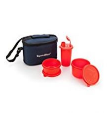 Signoraware Combo Small Executive Lunch with Bag, Deep Red for Rs. 510