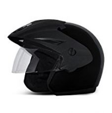 Vega Cruiser CR-W/P-K-M Open Face Helmet (Black, M) for Rs. 999