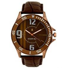 Buy Golden Bell® Original Brown Dial Broad Men's Watch GB-152BrnDBrnStr from Amazon