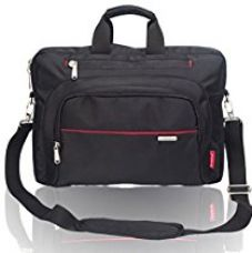 Buy Cosmus Nylon 9Litres Black & Red Laptop Briefcase from Amazon