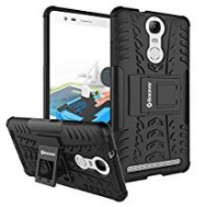 Buy Bracevor Shockproof Lenovo Vibe K5 Note Hybrid Kickstand Back Case Defender Cover - Black from Amazon