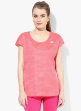 Adidas Run Rev Ss T Red Top for Rs. 1000
