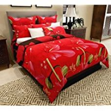Buy Home Candy Elegant Floral  3-D Reactive Print Double Bedsheet w from Amazon