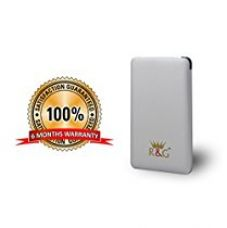 R&G 5000 mAh - World's Slimmest Automatic Power Bank - Silver - With Built-in Micro USB Cable (Weighs Just 97 Grams !! ) for Rs. 999