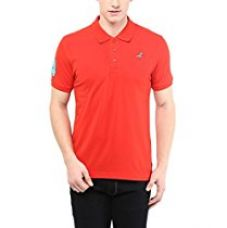 American Crew Men's Lycra Blended Cotton-Poly Polo T-Shirt (AC377-L_Red_Large) for Rs. 599