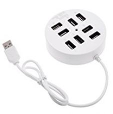 Buy Technotech 8-Ports USB 2.0 Hub Portable (White) for Laptop/Notebook/PC from Amazon