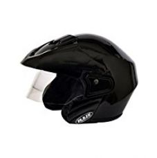 Buy Mototrance Blaze Trace Open Face Helmet (Black,L) from Amazon