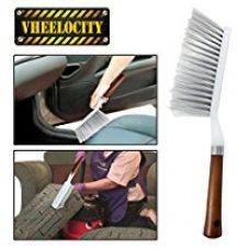 Vheelocityin 70076 Cleaning Brush with Hard and Long Bristles for Car Seat, Carpet and Mats for Rs. 185