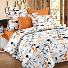 Get 49% off on Story@ Home White 186 TC 100% Cotton 1 Double Bedsheet With ...