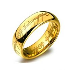 Buy Yellow Chimes Lord of the rings 100% stainless steel 18K Gold Plated ring for boys and Men from Amazon