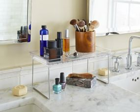 Flat 45% off on Small Clear Cabinet Shelf -  Multi