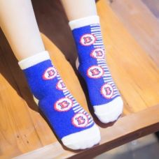 Flat 58% off on Alphabet And Stripe Printed Socks - Blue