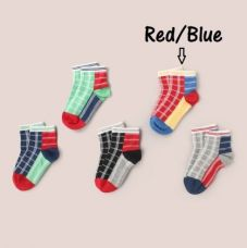 Buy Unicorn Soft Baby Socks - Blue/Red from Hopscotch