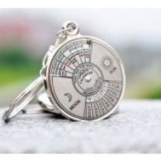 Buy 50 years Calender date month year day time compass keychain keyring for key ring from ShopClues